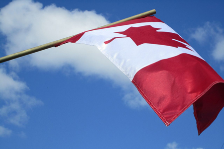 Canadian flag - Photo by Donna Lesage